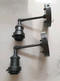 New industville wall light fitting in pewter (suitable for bathrooms)