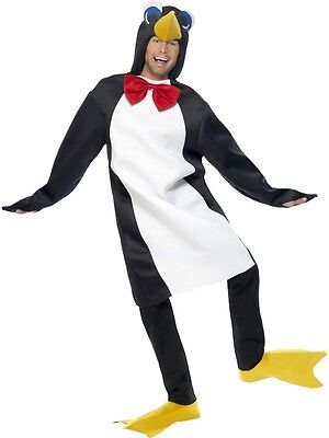 ADULT UNISEX PENGUIN COSTUME IN WHITE AND BLACK PARTY ANIMALS - ONE SIZE
