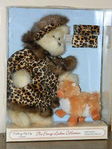ValantienFancy Ladies Collection Walking My Dog Series Toy Bear