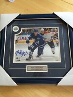 Authentic framed and autographed Matt Stajan photo