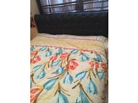 King size leather bed with mattress