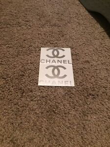 Silver Chanel vehicle decals