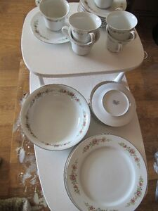 vintage 1960s marie rose pattern 3496 dishes