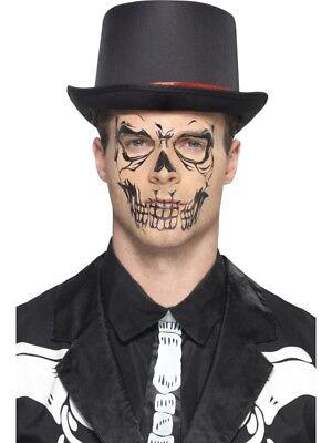 Schädel Totenkopf Tattoo Set 10-teilig Halloween Skull Tattooset Gesichtstattoo