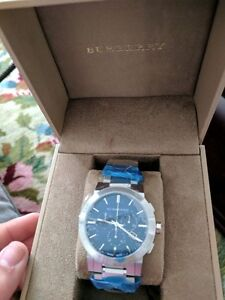 BURBURRY CHRONOGRAPH WATCH BRAND NEW IN BOX (ORIGINAL)