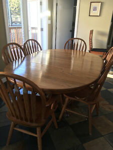 Solid Oak dining table set