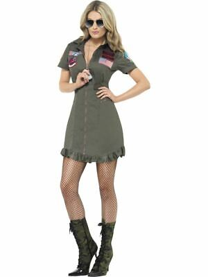 Top Gun Deluxe Weibliche Kostüm, Top Gun Lizenziert Kostüm