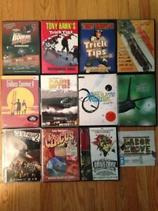 Lot of 12 surf/skate/snowboard DVDs