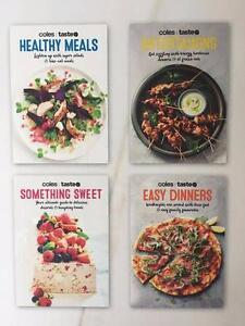 NEW - COLES & TASTE - Set of 4 RECIPE COOK BOOKS - RRP $20 New Farm Brisbane North East Preview