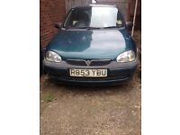 Vauxhall corsa 1.4 GLS 1998 for spares/ repairs
