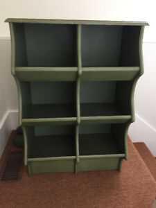 Pier 1 wooden cubby. 2 available