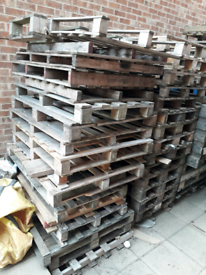 40 Pallets (with Some Euro pallets) - At the front, ready to collect.