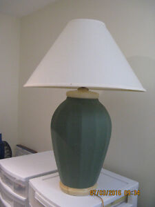 Large Moss Green Table Lamp Sarnia Sarnia Area image 2