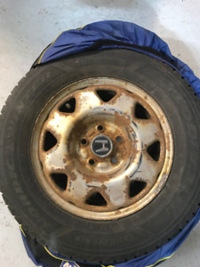 Honda Winter Tires 15 inches with Tire Covers