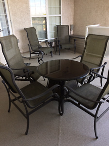 Patio Set - Two tables, six chairs
