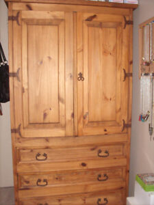 Solid Pine Rustic Armoire