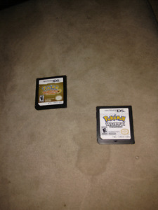 Pokemon Heat Gold and White ds cartridges