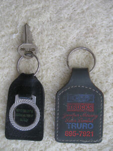 THREE INTERESTING COLLECTIBLE KEY RING TAGS