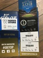 2 Grey Cup Tickets - 2nd Row Lower Bowl Below Cost!