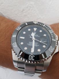 Steel watch silver look