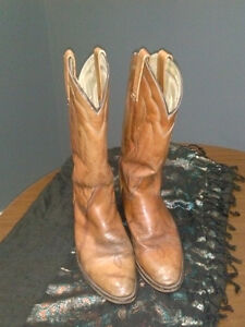 Billy Pull/Frye Heavy Leather cowboy Boots-size 11.5 D