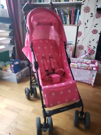 Pink stroller - Zeta Vooom raspberry pink