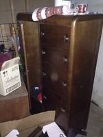 Antique dresser with wardrobe