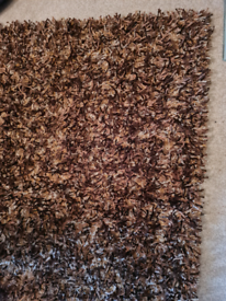 Very large thick mocha rug