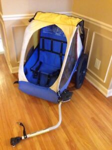 Bike stroller chariot for 2 kids