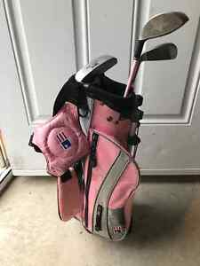 US Kids golf right handed pink
