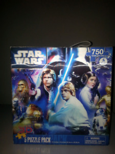 Star Wars Super 3D Puzzle Pack ( 5 Pack- 750 Pieces)