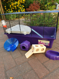 Large hamster cage for sale inc accessories £10