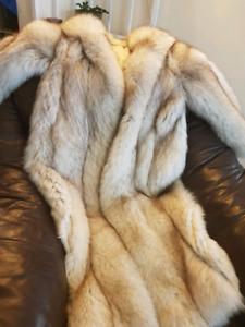 Beautiful real fox fur coat