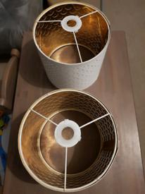 Ikea NYMO lampshades x2