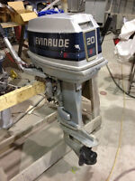 "1986 20 hp Short shaft (15"") Outboard Evinrude Motor Watch