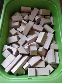 Toy wooden blocks