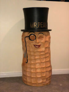 Antique Mr. Peanut Hard Plastic Promotional Costume