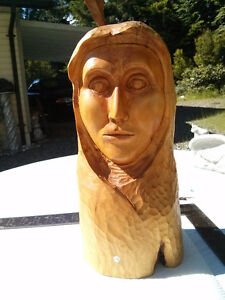 Native Lady made of Cascara wood from Vancouver Island