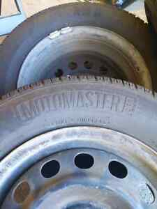 Sold Thanks Motomaster 185/70 14 4 tires and 4 x 100 rims London Ontario image 4