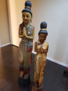 Authentic Thai Wood Statues