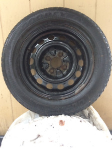 4 Winter Tires on Steel Rims for Honda/Acura