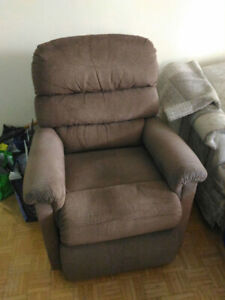 Recliners 1 with Power lift Brown , White Medical Support Bar