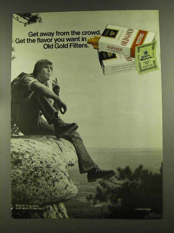 1972 Old Gold Cigarettes Advertisement