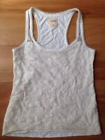 White HOLLISTER Lace tank and Aquamarine high waisted shorts
