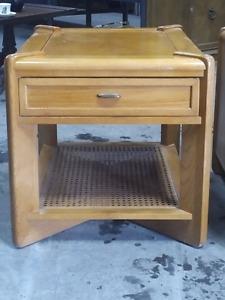 1970s Oak Side Table Sklar-Peppler
