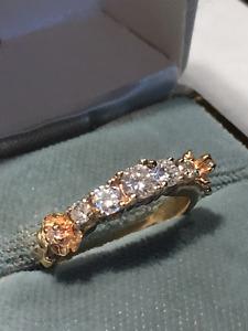 Bague de diamant et en or jaune, pièce unique