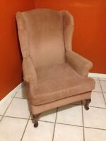 2 high back arm chairs