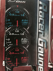 New in the box Defi Red Racer boost gauge InHG/PSI Control unit