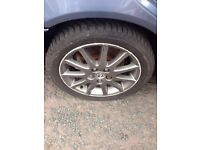 "Lexus is200 5 x 17"" alloy wheels set good tyres 98/05 facelift breaking spares is 200 toyota is300"