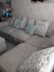 Conner sofa and chair with foot stool